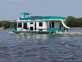 With 9 boats in service, Huck's Houseboats were scattered throughout the La Crosse-Fountain city River.